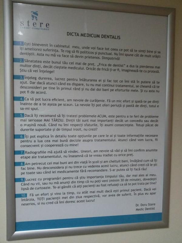 Dicta medicum dentalis